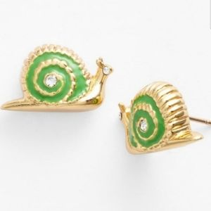 "KATE SPADE EARRINGS ""GARDEN PARTY "" SNAIL NWT!"